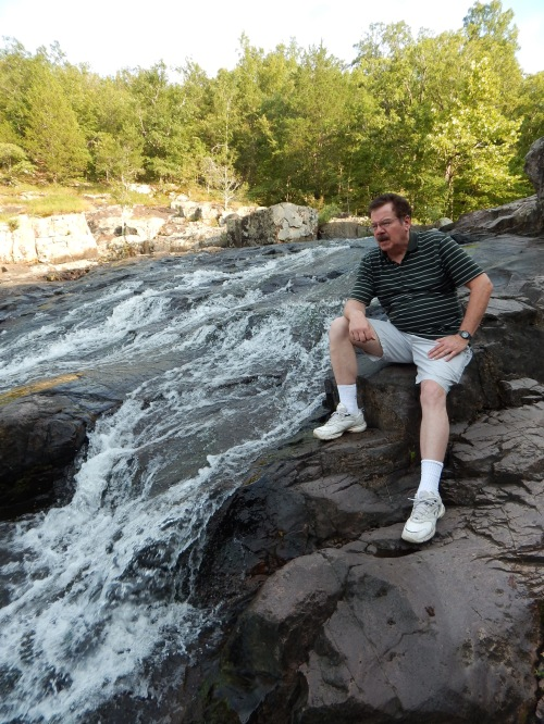 Don Corrigan at Rocky Falls. Photo by Emery Styron