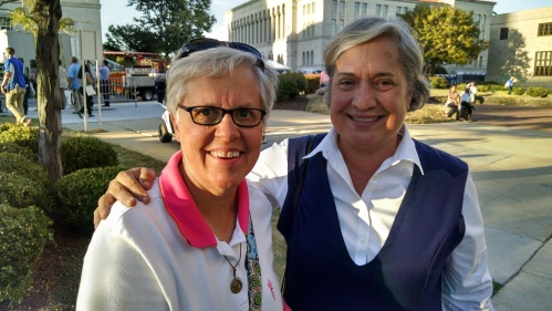 Sister Renita Brummer (left) and Sister Norma Pimentel. All photos provided by Sister Renita Brummer.