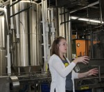 Schlafly tour guide, Sarah Rybicki, explains elements of the brewing process.