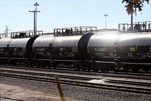 In 2007, there were about 6,000 rail cars in the United States carrying crude oil. By 2013, the number of cars carrying crude oil jumped to 400,000. photo by Ursula Ruhl, Webster-Kirkwood Times.