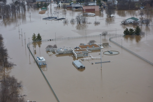 Fenton sewer plant flooding December 2015. Photos provided by Sean Hadley, Metropolitan St. Louis Sewer District.