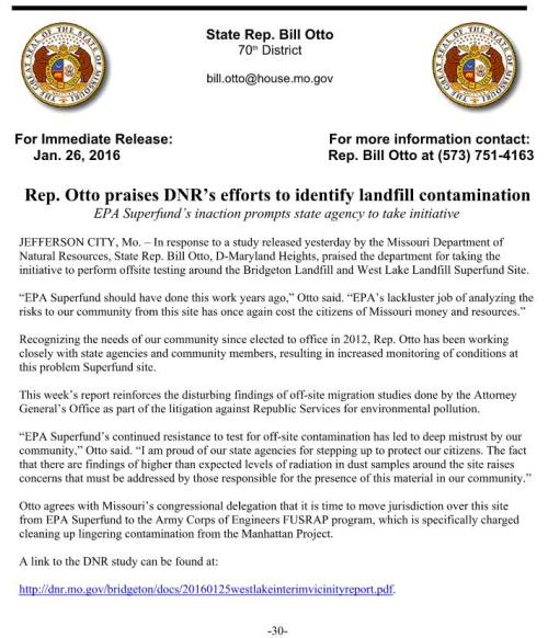 Mo DNR Westlake Press Release Jan 2016