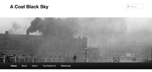 "A screenshot of the blog, ""A Coal Black Sky."" Photo by Bob Wyss."