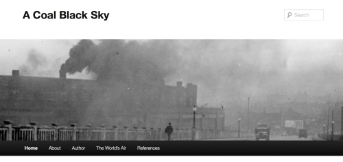 "A screenshot of the blog, ""A Coal Black Sky."" Photo by Bob Wyss."