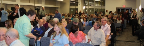 "Crowd attending at the STLCC-Wildwood symposium ""The Atoms Next Door"" held February 20."