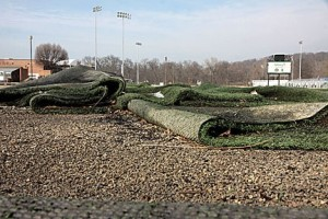 The turf at Field 5 at The World Wide Technology Soccer Park in Fenton was a complete loss. photo by Diana Linsley, Webster-Kirkwood Times. To read the story about clean-up efforts at Fenton's Soccer Park CLICK HERE.