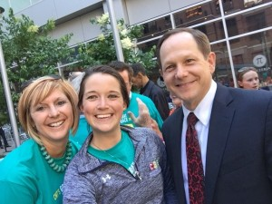 CMT Executive Director Kim Cella (far left), Jacque Lumsden with CBB and Mayor Francis Slay.