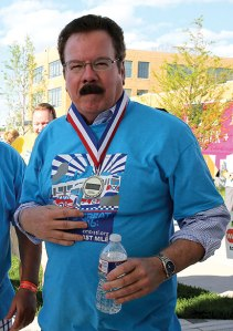Don Corrigan at The Great Race. Photo by Ursula Ruhl, Webster-Kirkwood Times.