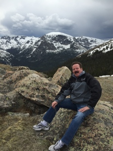 Don takes a break on a hike in Rocky Mountain National Park. It's still a long way to the summit and the visitor's center at the top of Trail Ridge Road.