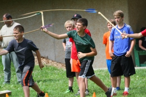 Learning to use the ATLATL. Photo courtesy MDC.