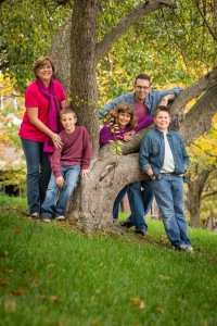 Dr. Meredith Spiekerman Byers and husband Derek, kids Wyatt (12), Shiloh (8), and Ryder (7).