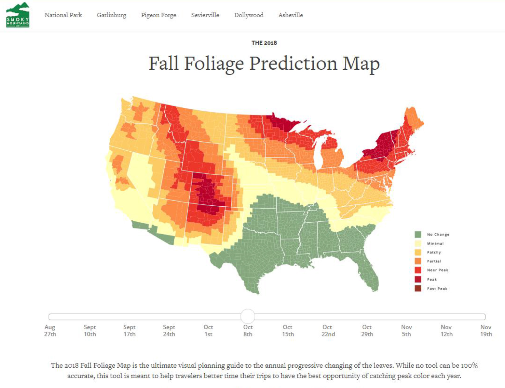 Don T Miss The Peak Time For Fall Colors Check Out The Smokey