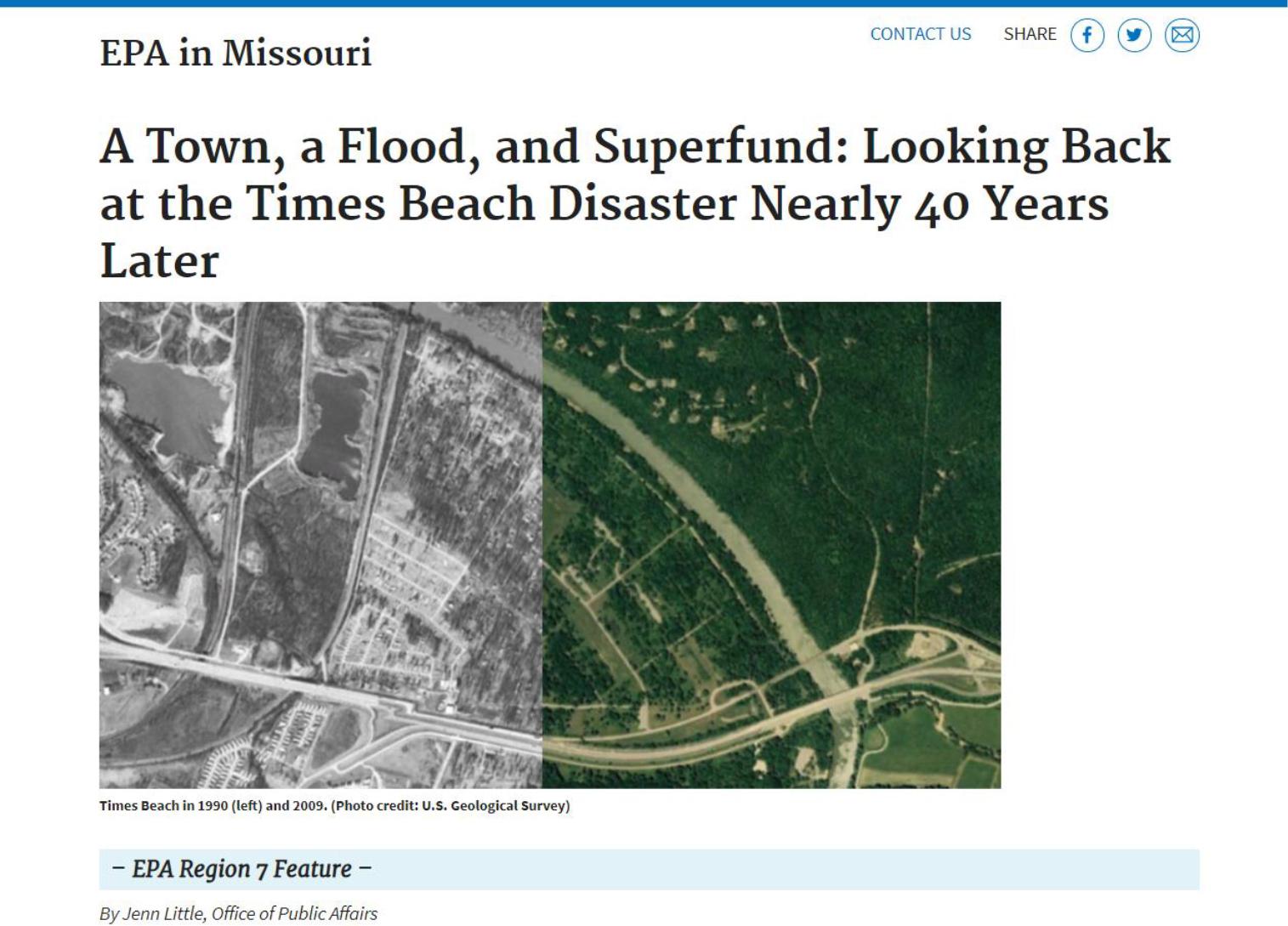EPA Reg 7 Times Beach
