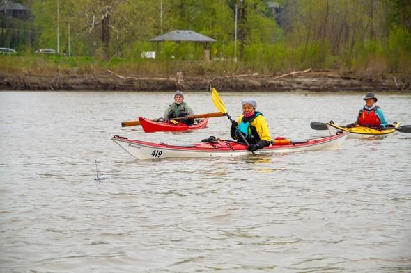 Three kayakers mdc