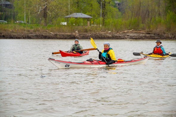 Three kayakers mdc