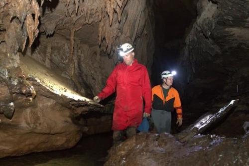 MDC explore a cave